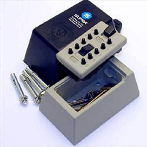 SUPRAS5 - Schlüsseltresor mit zahlenschloss -  Schlüsseltresor für briefkasten